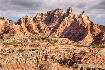 Photo of the Badlands National Park outside of Wall, South Dakota.